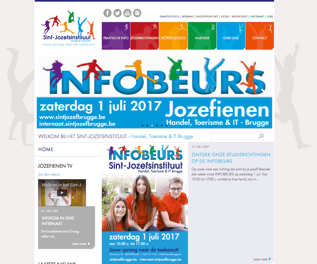 website sintjozefbrugge webdesign in2sites webbureau