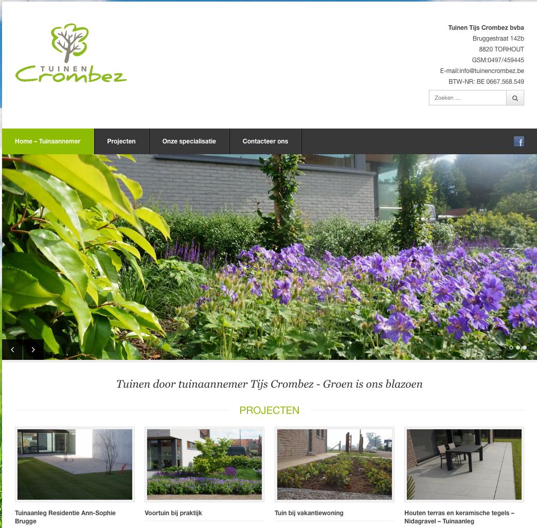 Website tuinen crombez webdesign in2sites webbureau