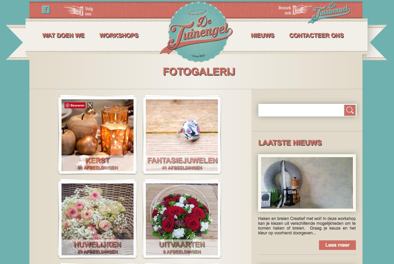 website de tuinengel webdesign in2sites webbureau