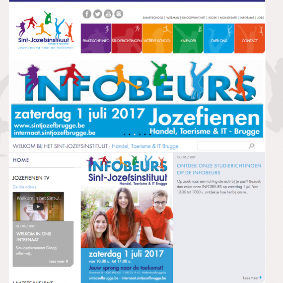 website sintjozefbrugge webdesign in2sites webbureau