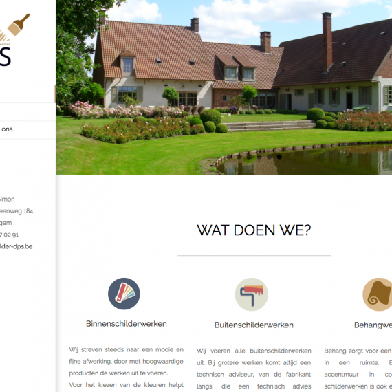 website schilder dps webdesign in2sites webbureau