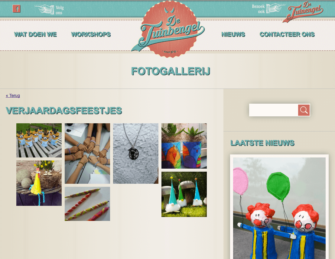 website tuinbengel webdesign in2sites webbureau
