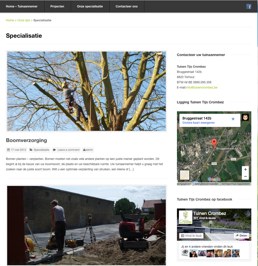 website tuinencrombez webdesign in2sites webbureau