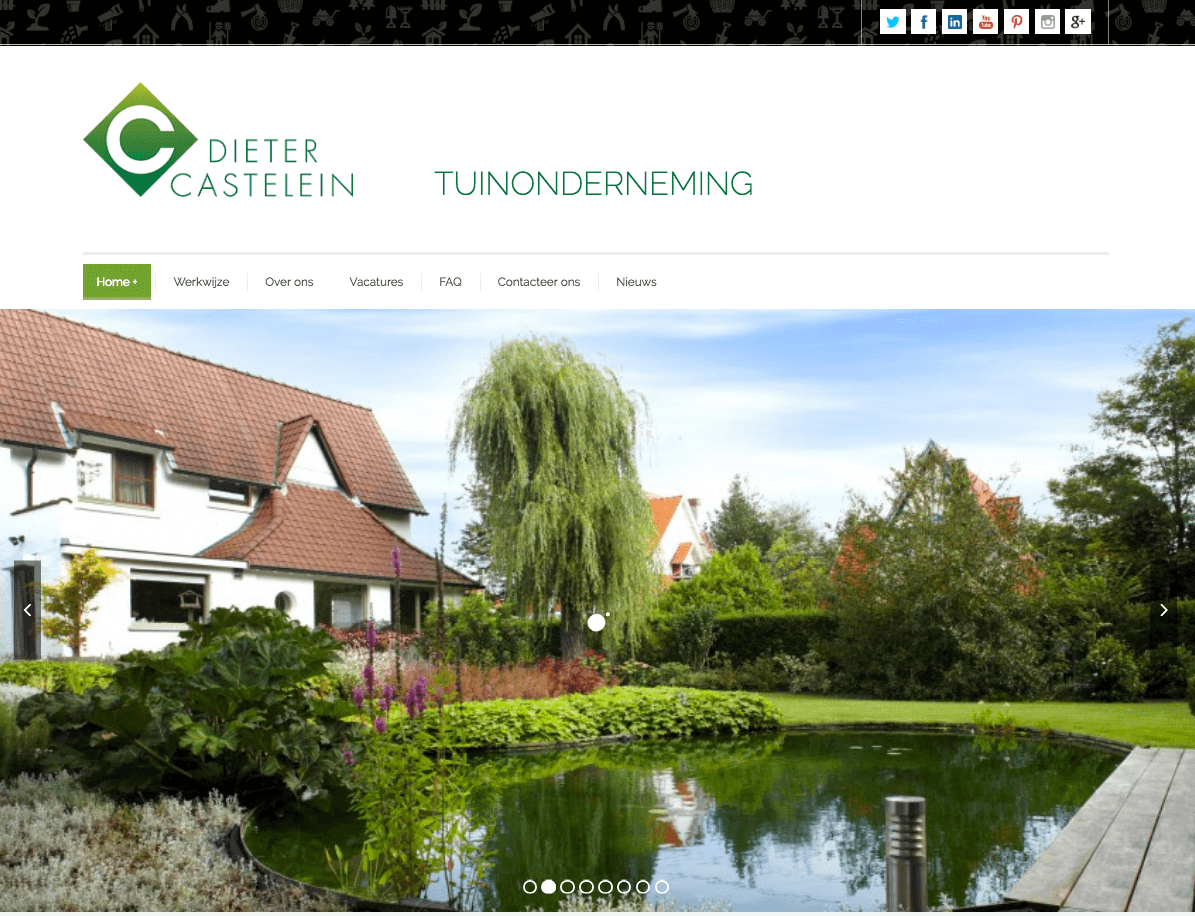 website tuinen dieter webdesign in2sites webbureau