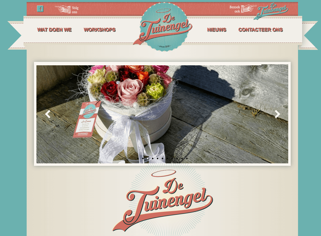 website de tuinengel webdesign in2sites webbureau